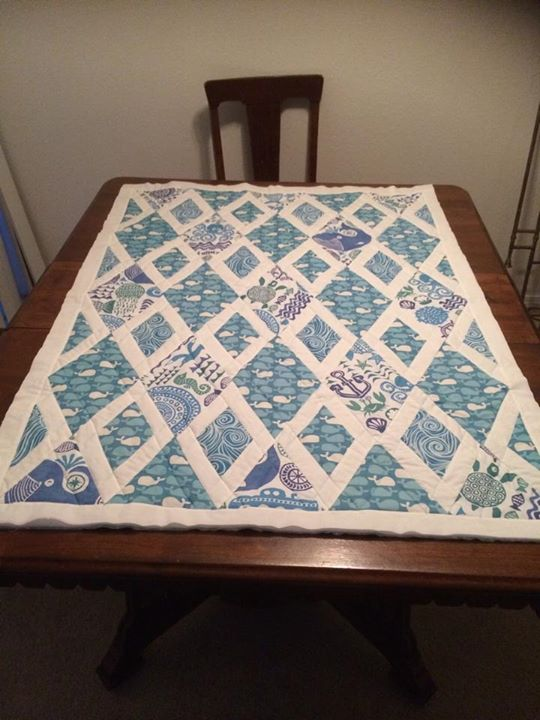 Amadeo's quilt, squared(ish), before binding