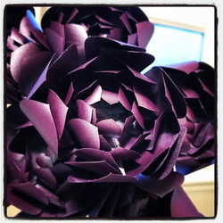 Purple paper #succulents! #paperflowers #papercrafting #sawitonpinterest