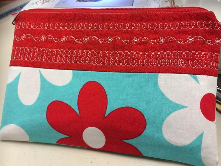 Made a little bag in sewing class today!