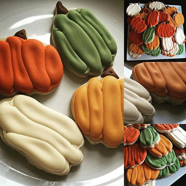 Autumn #decoratedcookies. Cookie recipe from _annieseats, modified with my autumn spice mix. Icing a