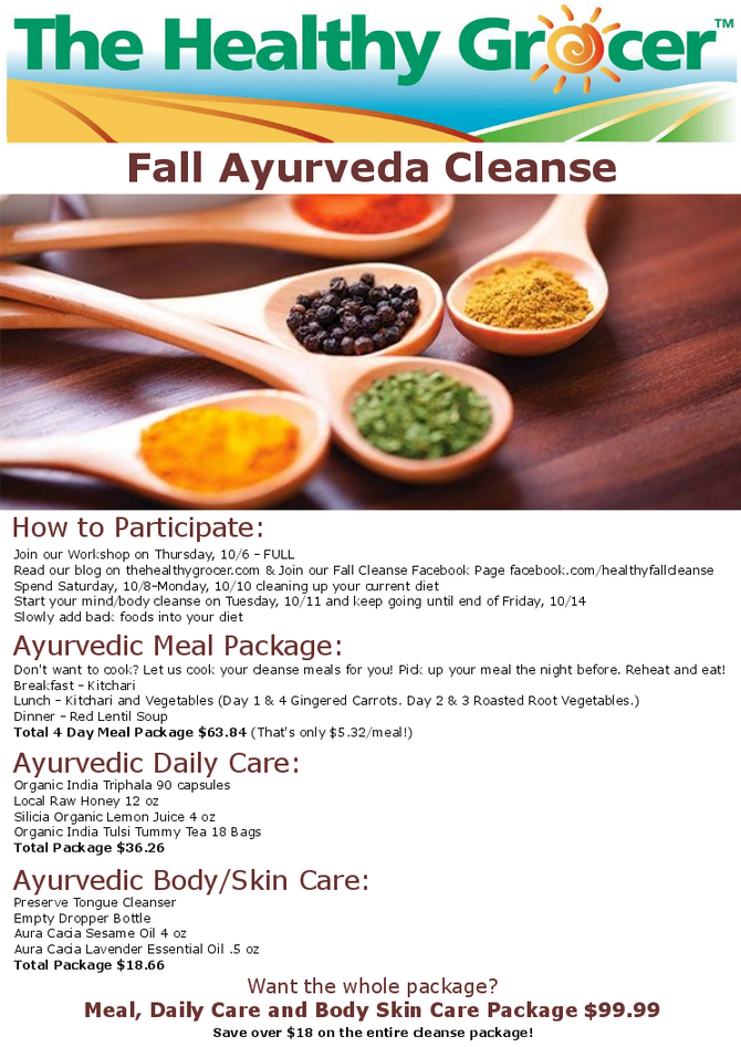 Fall Ayurveda Cleanse: What is a Cleanse & How To