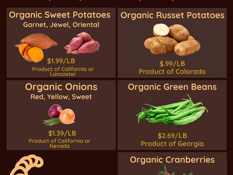 Organic Produce Specials: Nov. 16-22nd