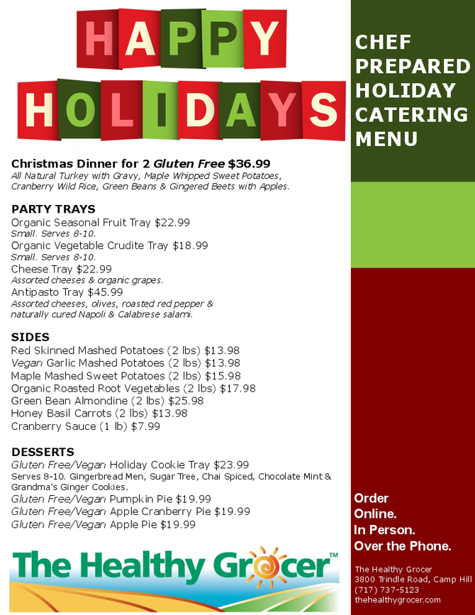 Christmas Dinner & Entertaining Menu
