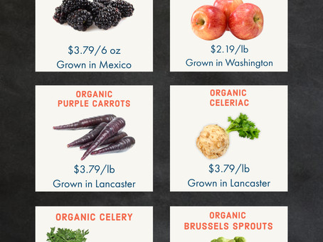 Organic Produce Specials: 12/14-12/20/20
