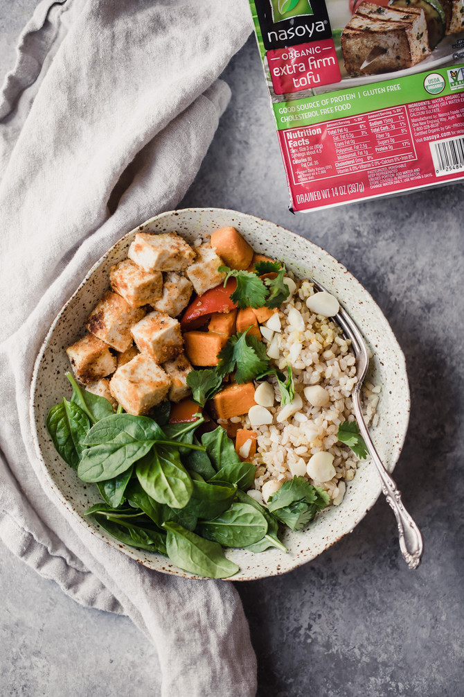 Recipe: Vegan Macadamia Coconut Tofu Bowls