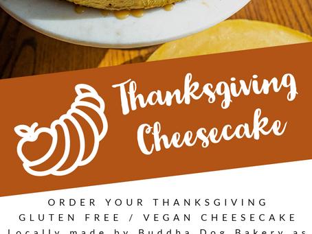 Thanksgiving Gluten Free/Vegan Cheesecakes