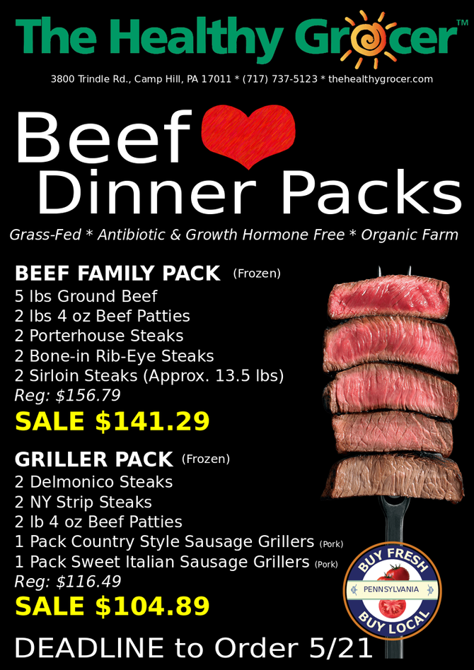 They're Back! Beef Dinner Packs for Memorial Day Weekend!