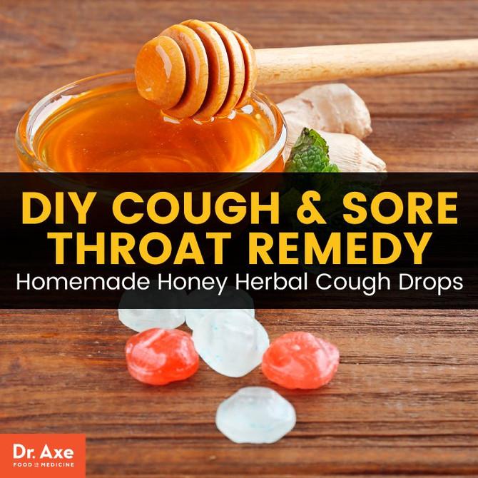 Homemade Honey Herbal Cough Drops