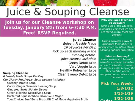 New Year! New You! Juice & Souping Cleanse