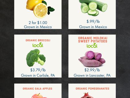 Organic Produce Specials: Nov. 6-13th