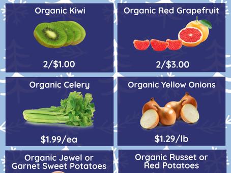 Organic Produce Specials: Dec. 21-27, 2020