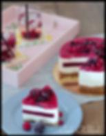 Hugo torta, hugo cheesecake, cake o clock urška peče