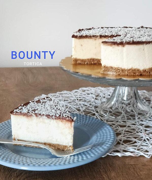 Bounty torta, Bounty torta brez peke, torta brez peke, kokosova torta, cake o clock, urška peče