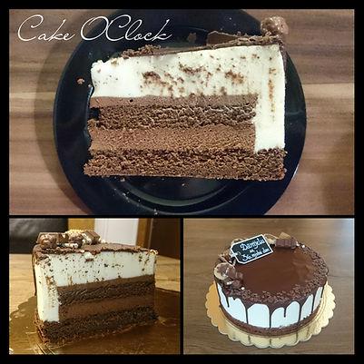 torta gianduia, lešnikova torta, torta z mlečno kremo, kinder krema, monte torta, cake o clock, urška peče, cakeoclock urška peče