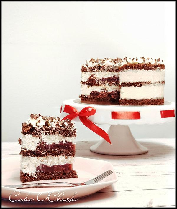 Švarcvald torta, Črni gozdiček, višnjeva torta, Cake O Clock, Urška peče