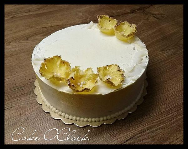 pina colada, torta pina colada, ananasova torta, torta z ananasom in kokosom, kokosova torta, cake o clock, torta