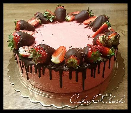 čokoladna torta, jagodna torta, jagodni mousse, jagode, čokolada, torta