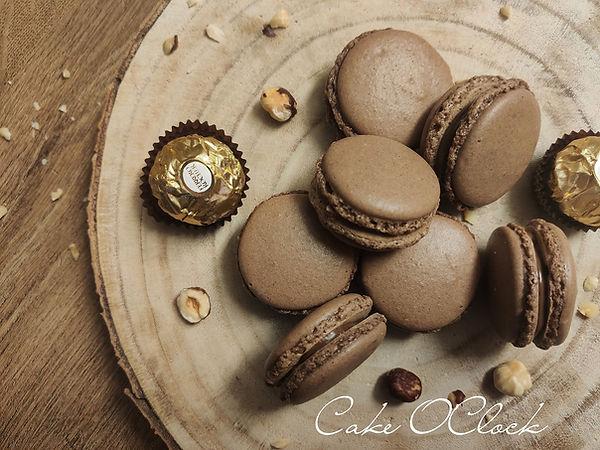 ferrero rocher makroni, čokoladni makroni, makroni, macarons