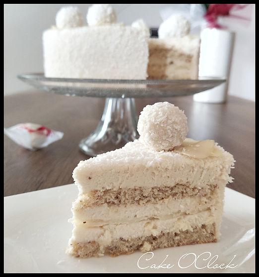 Raffaello torta, Raffaello, Urška peče, Cake O'Clock
