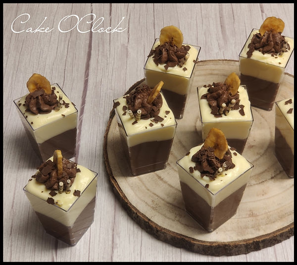 enostavna sladica v kozarcu, nutella banana, nutella banana v kozarcu, sladica s pudingom, hitra sladica, cake o clock, urška peče