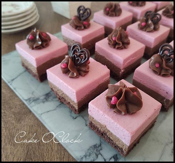čokoladno malinove kocke, malinove kocke, čokoladne kocke, cake o clock