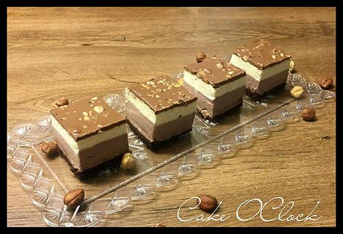 Nougat vanili kocke, lešnikove kocke z vanilijo