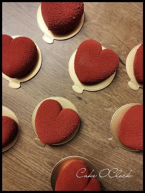 Vanilijeve tortice z jagodo, monoporcije, entremet, valentinovo