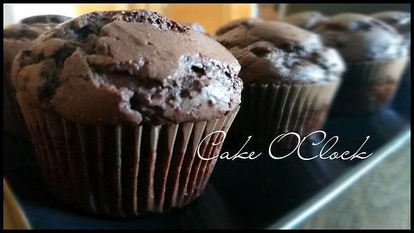 čokoladni muffini, čokoladni muffini z nutello, muffini, recept za muffine, cake o clock, urška peče