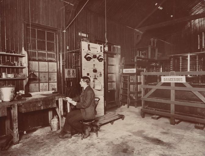 Vintage image of Fessenden wireless radio station
