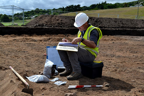 A site survey being completed