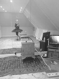 Deborah's new attic studio for online classes