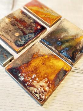 Variegated glaze