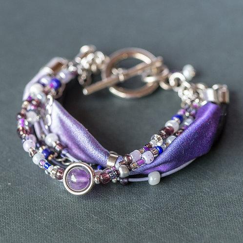 Lila Armband mit Amethyst