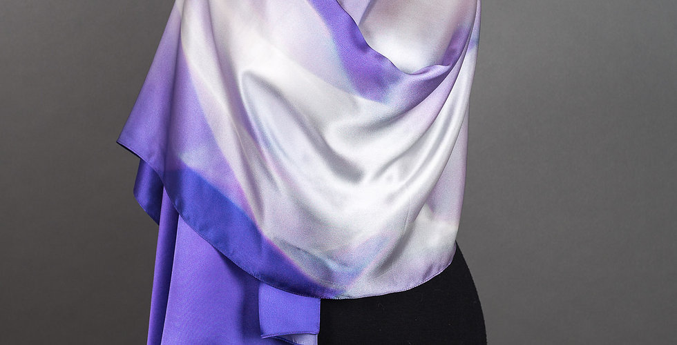 "Silk Scarf ""Lichtschleier"" (""Light Veil"")"