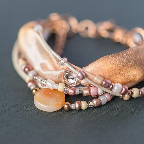 Armband mit Botswana-Achat und Swarovski-Kristall