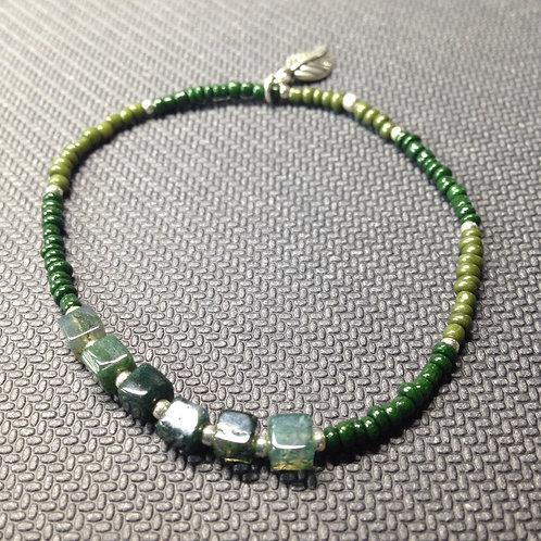 Grünes Armband mit Moosachat