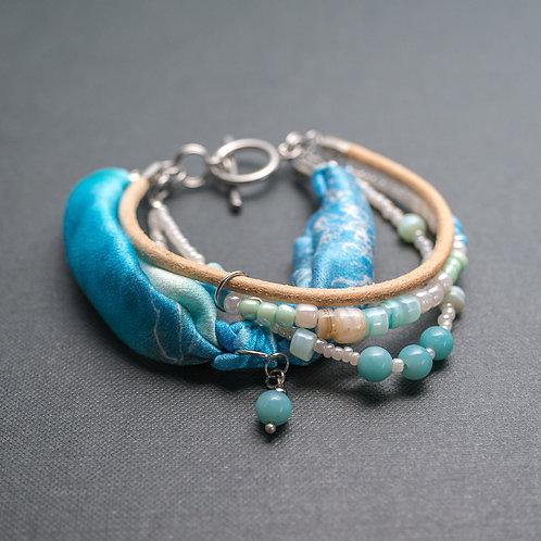 Sommerliches Armband mit Edelsteinen
