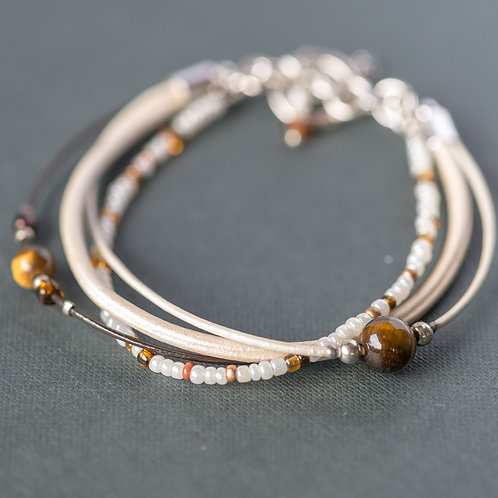 Zartes Designer-Armband mit Tigerauge
