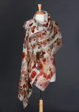 Rose & Eucalyptus Silk Double Wrap