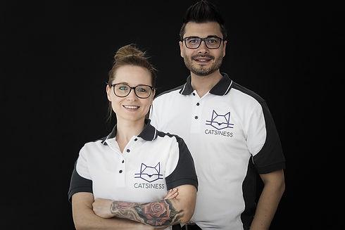 Gründerteam CATSINESS Albert und Veronika Wegner