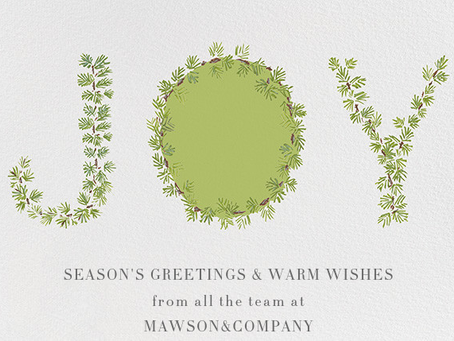 Season Greetings from all at Mawson&Company: