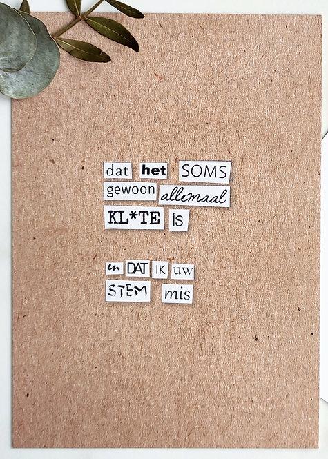 kl*te - postkaart