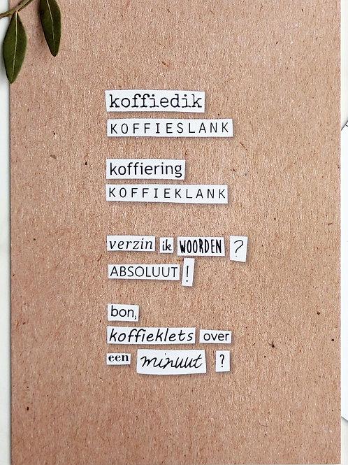 koffieklets - postkaart