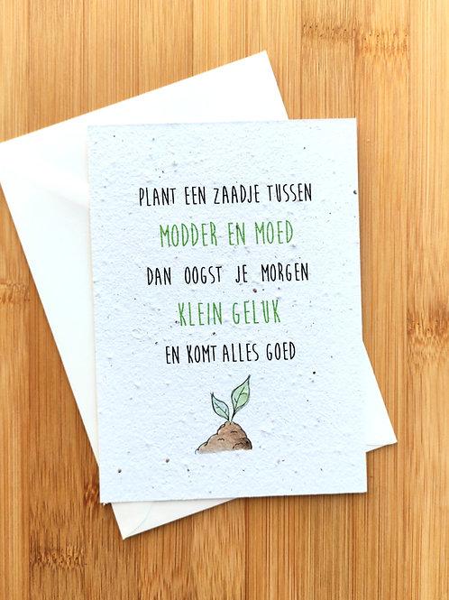 klein geluk - bloemzaadkaart