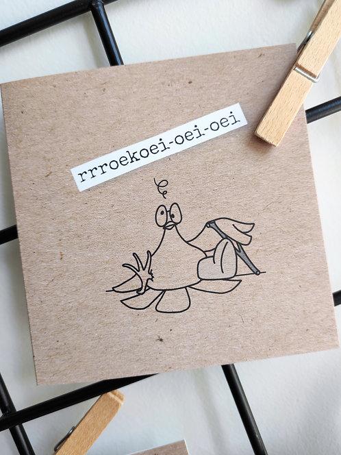 roekoei-oei-oei (beterschap) - dubbele kaart