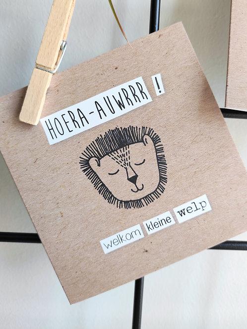 hoera-auwr(geboorte) - dubbele kaart