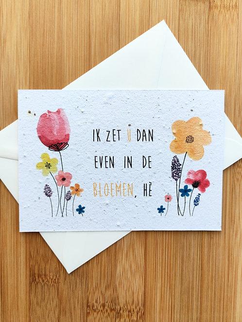 in de bloemen - bloemzaadkaart