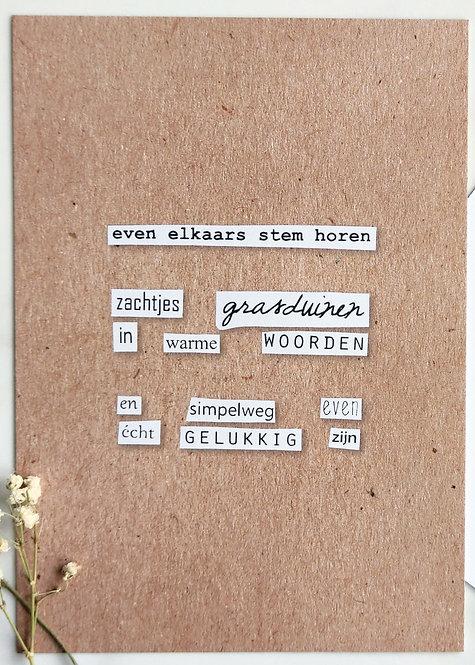 grasduinen - postkaart
