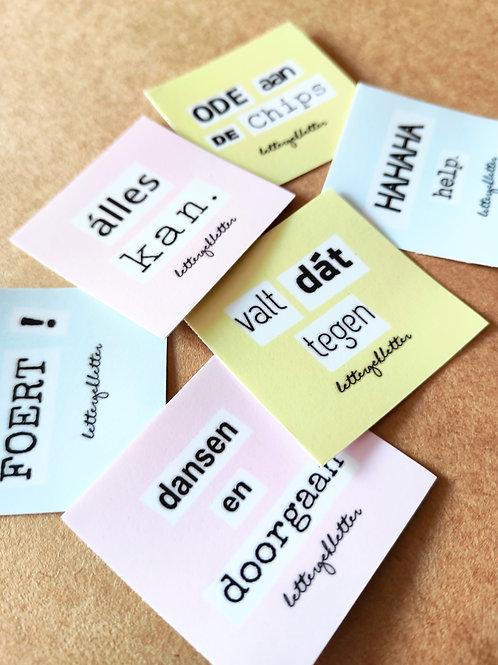 stickers (6 verschillende)