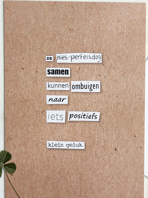 niet-perfectdag - postkaart